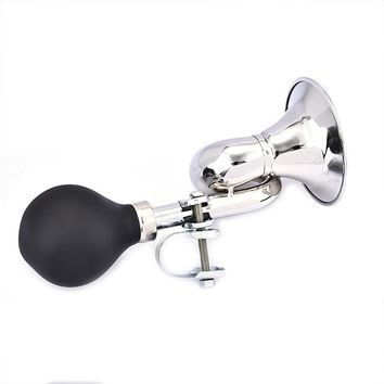 Outdoor Sports Riding Non-Electronic Trumpet Loud Bicycle Cycling Bike Bell Vintage Retro Bugle Hooter Air Horn Bike Accessory