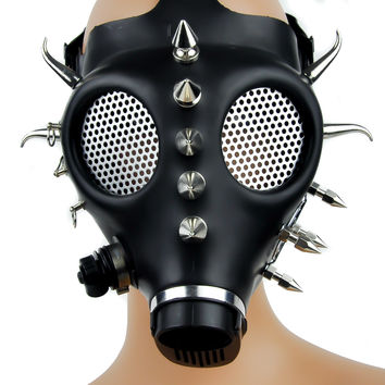 Fat Horn Spike Gas Mask Industrial Rave