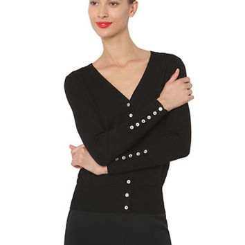 Isaac Mizrahi New York Button-Front Cardigan
