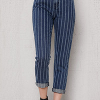 PacSun Railroad Stripe Mom Jeans at PacSun.com