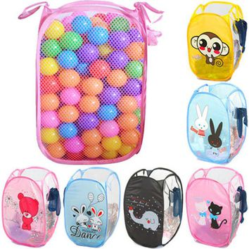 DCCKL72 Minions Hello Kitty Clothing Storage Basket Folding Children Toys Storage Basket Kid Toy Shoes Storage Box Laundry Basket XB0021