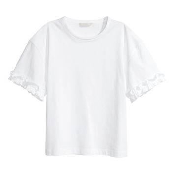 Top with Ruffle Detail - from H&M