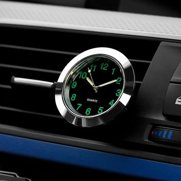 Automobile Quartz Clock Car Decoration Watch Ornaments Vehicle Auto Interior Watch Digital Pointer Air Conditioning Outlet Clip