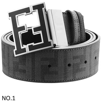 FENDI 2018 Women's Fashion High Quality Flat Belt Belt Belt F NO.1