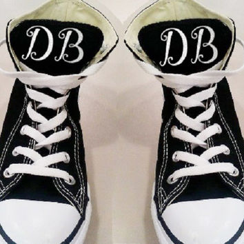 Iron on Monograms for Canvas Sneakers, DIY Shoe Monogram