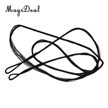 MagiDeal High Strength Archery Bowstrings Bow Strings Black for Recurve Bow Longbow Hunting Shooting Practice Tool 9 Differ Size
