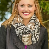 Under Wraps Infinity Scarf-Taupe