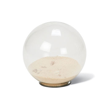 Toes in the Sand Glass Globe