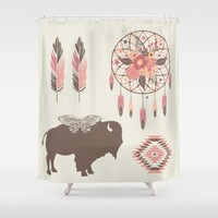 Spirit Walk Shower Curtain by Bohemian Gypsy Jane