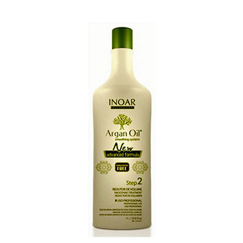 INOAR ARGAN OIL SYSTEM BRAZILIAN KERATIN HAIR SMOOTHING TREATMENT SINGLE BOTTLE  STEP 2