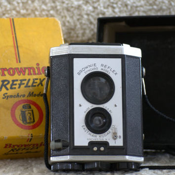 Vintage Camera Kodak Brownie Reflex Synchro Model Camera 1940 1952