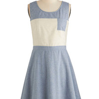 ModCloth Colorblocking Sleeveless A-line Best Block Party Dress