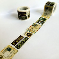 Beautiful 30mm*5m high quality washi paper tape Vintage varied stamps masking japan washi tape