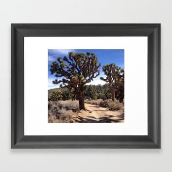 Joshua Tree Framed Art Print by Anne Marie Price