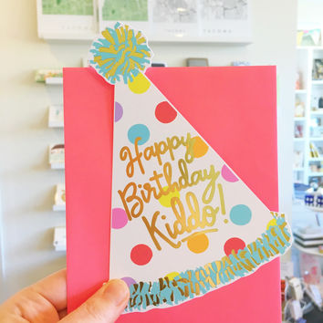 Happy Birthday Kiddo Die Cut Card