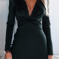 Cupshe Cut To It Plunging Dress