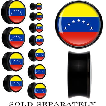 Venezuela Flag Black Acrylic Saddle Plug
