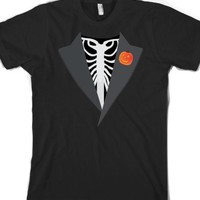 Skeleton Tux-Unisex Black T-Shirt