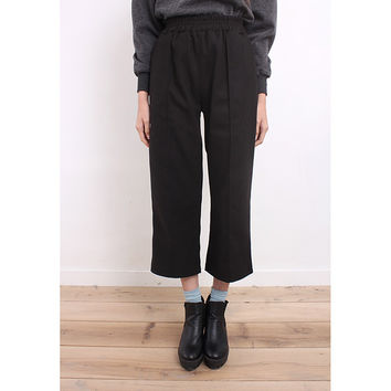 Retro Style Center Seam Wooly Cropped Pants