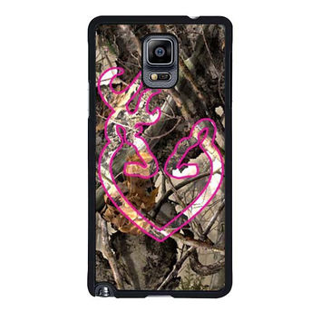 love browning deer camo pink samsung galaxy note 4 note 3 2 cases