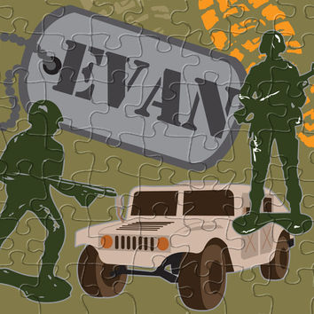 Army Men Personalized Puzzle