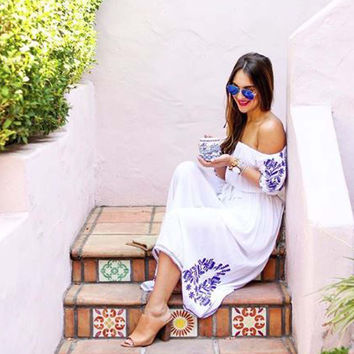 Tulum Maxi Dress in White