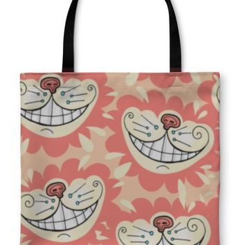 Tote Bag, Smile Of A Cheshire Cat For Tale Alice In Wonderland