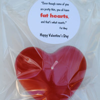 Pitch Perfect Valentine- Fat Heart Candle with Quote Sticker