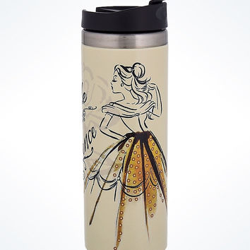 Disney Parks Epcot France Belle Watercolor Ceramic Travel Tumbler New