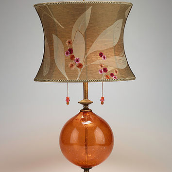 Natalia by Caryn Kinzig and Susan Kinzig: MixedMedia Table Lamp - Artful Home