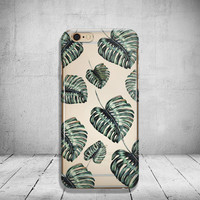 Tropical Leaf iPhone 6 Case Clear iPhone 6s Case Clear iPhone 6s Plus Case iPhone 5 Case iPhone 6 Plus Case Soft Silicone iPhone Case No: 70
