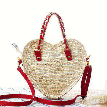 Heart Stylish Lovely Beach Bags [6580707591]
