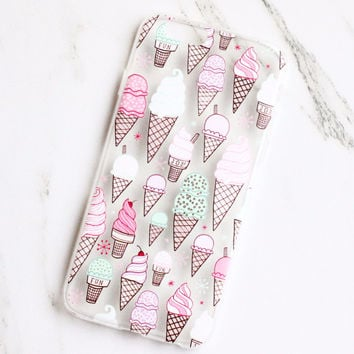 Pastel Ice Cream Cone iPhone Case