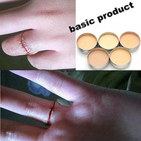 IMAGIC Special Effects Stage Makeup Halloween Party Fake Wound Scars Wax + Spatula Tool - 2PC
