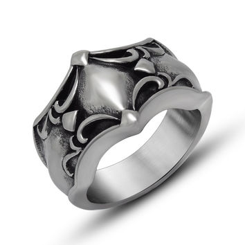 New Arrival Gift Jewelry Stylish Shiny Titanium Accessory Vintage Fashion Men Ring [6526805443]