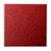 Damaged red metal tile