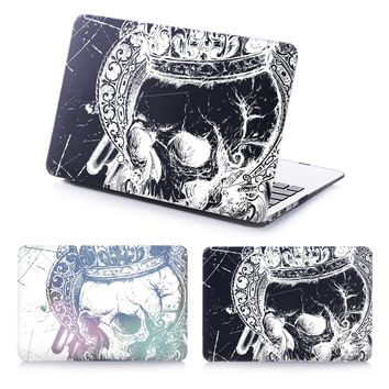 Skeleton Skull scary Face Hard Case For Apple Macbook Air Pro Retina 11 12 13 15 Laptop Cover For Mac book 13.3 inch