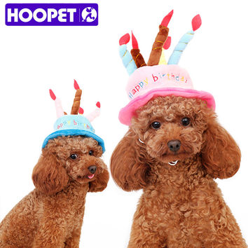 HOOPET Dog Birthday Hat with Cake & Candles Design Party Costume Accessory Headwear for Dogs/Cats