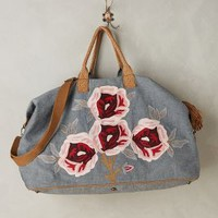 Miss Albright Cottage Rose Weekender in Dark Denim Size: One Size Bags