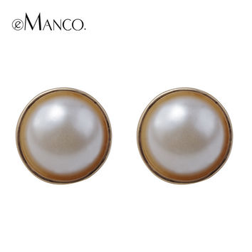 E - Manco deer family original accessories 2014new style Luxury exaggerated pearl earring women adorn article free shipping