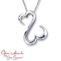 Open Hearts Necklace Sterling Silver