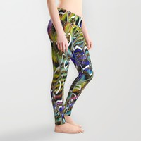 Shapiraz Gold Leggings by Webgrrl | Society6