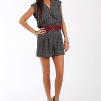 The Camilla Romper, Blk