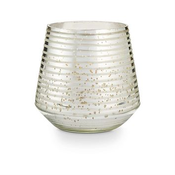 Balsam & Cedar Etched Mercury Glass Candle