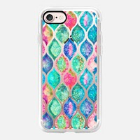 Watercolor Ogee Patchwork Pattern on Transparent iPhone 7 Case by Micklyn Le Feuvre | Casetify