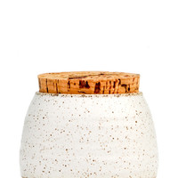 Speckled Ceramic Jar