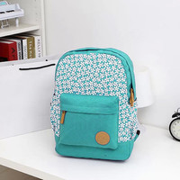 Floral Canvas Ladies¨¹ School Backpack Bags