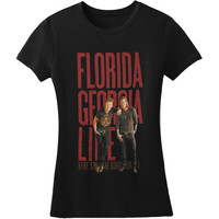 Florida Georgia Line  Standing Photo Girls Jr Black Rockabilia