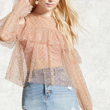 Sheer Open-Shoulder Top