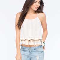 BLU PEPPER Fringe Bottom Womens Tank | Tanks & Camis